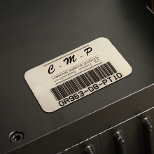 Metalphoto Bar Code Label with Teflon for Industrial Applications