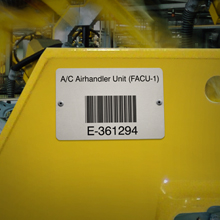 Metalphoto Bar Code Label with Teflon for Work In Process Applications