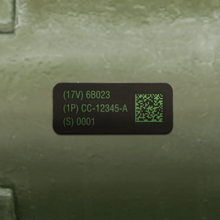 CARC Paint UID Labels