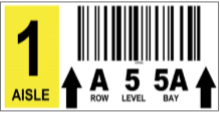 Polyester Warehouse Rack Label (One Row)