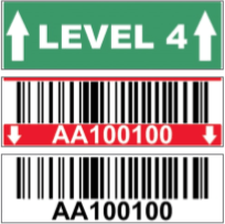 Polyester Warehouse Rack Label (Two Row)