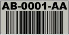 Retro-Reflective Wrap Around Label