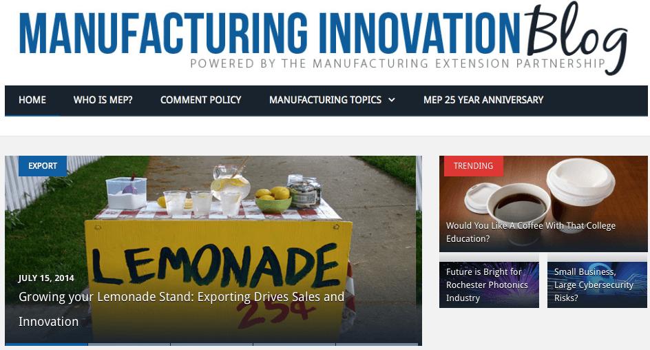 Manufacturing Innovation Blog