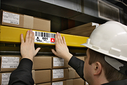 warehouse label installation