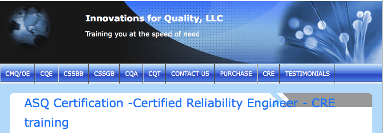 ASQ Certifiation - Certified Reliability Engineer