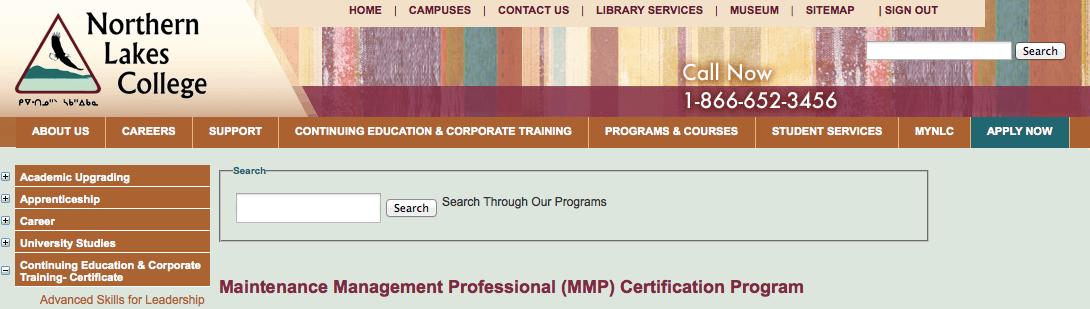 Maintenance Management Professional Certification
