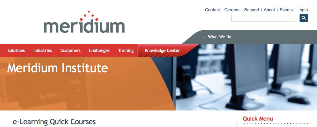 Meridium e-Learning Quick Courses
