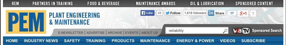 Plant Engineering & Maintenance