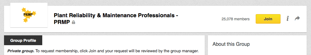 Plant Reliability & Maintenance Professionals - LinkedIn Group