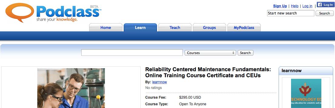 Reliability Centered Maintenance Fundamentals