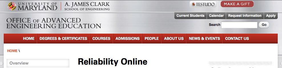 Reliability Online