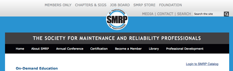 Society for Maintenance and Reliability Professionals On-Demand Education
