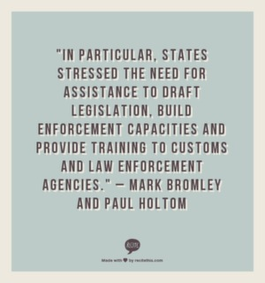 """In particular, states stressed the need for assistance to draft legislation, build enforcement capacities and provide training to customs and law enforcement agencies."" - Mark Bromley and Paul Holton"