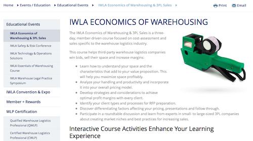 IWLA Economics of Warehousing and 3PL Sales