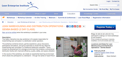 Lean Warehousing and Distribution Operations