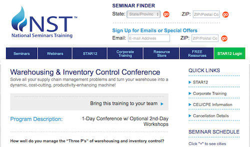 Warehousing and Inventory Control Conference