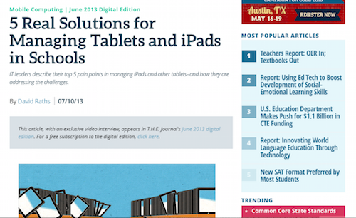 5 Real Solutions for Managing Tablets and iPads in Schools