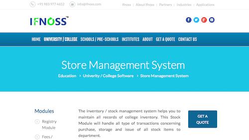 IFNOSS InventoryStock Management System