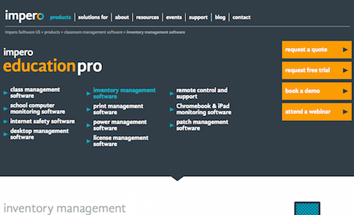 Impero Education Pro Inventory Management Software