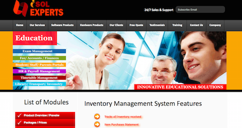 Innovative Solution Experts Educational Software Products - Inventory Management System