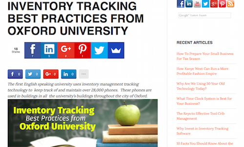 Inventory Tracking Best Practices from Oxford University