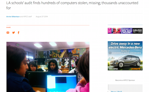 LA Schools Audit Finds Hundreds of Computers Stolen Missing Thousands Unaccounted For