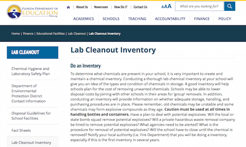 Lab Cleanout Inventory