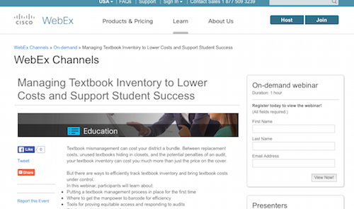 Managing Textbook Inventory to Lower Costs and Support Student Success