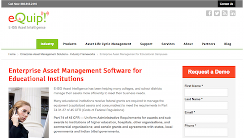 eQuip Enterprise Asset Management System
