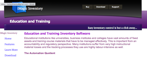 iMagic Inventory Education and Training Inventory Software