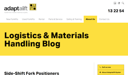 Adaptalift Logistics and Materials Handling Blog