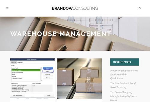 Brandow Consulting Warehouse Management Blog