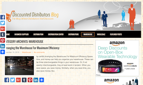 Discounted Distributors Blog
