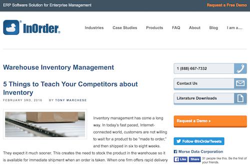 Get InOrder Blog