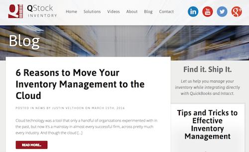 QStock Inventory Blog