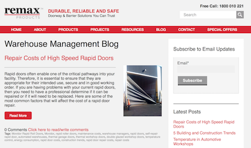 Remax Warehouse Management Blog