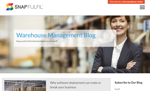 Snapfulfil Warehouse Management Blog