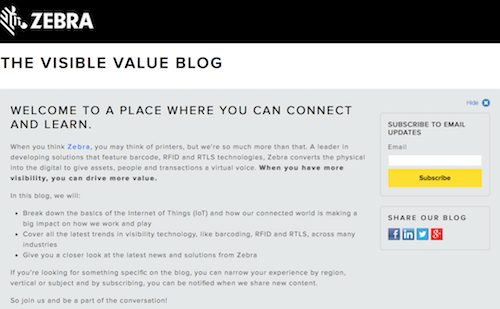 The Visible Value Blog