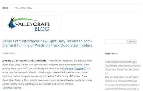 Valley Craft Industries Blog