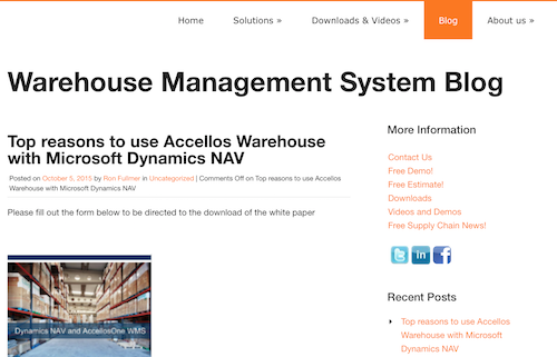 Warehouse Management System Blog