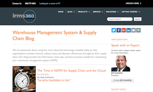 Warehouse Management System and Supply Chain Blog