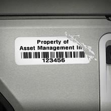 Destructible vinyl asset label