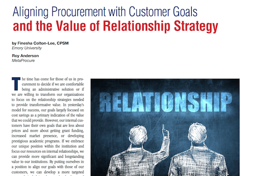 Aligning Procurement with Customer Goals and the Value of Relationship Strategy