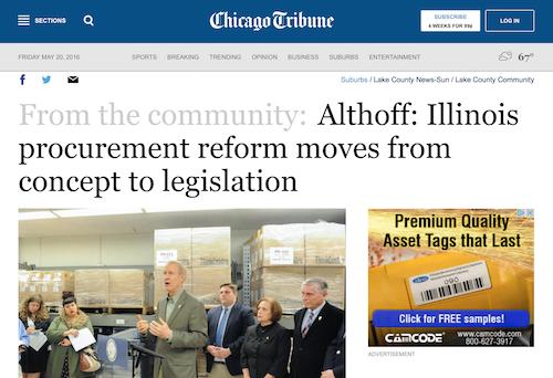 Althoff Illinois Procurement Reform Moves from Concept to Legislation