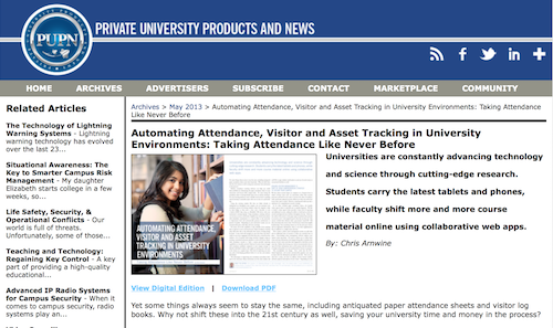 Automating Attendance Visitor and Asset Tracking in University Environments Taking Attendance Like Never Before