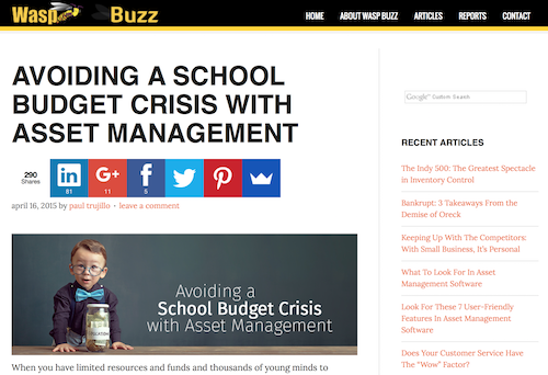 Avoiding a School Budget Crisis with Asset Management