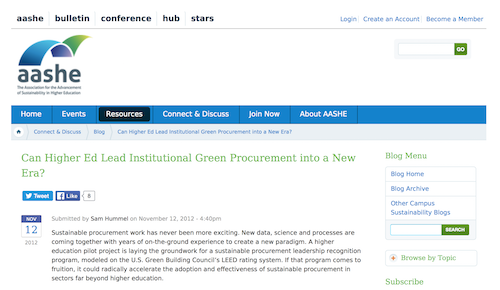 Can Higher Ed Lead Institutional Green Procurement into a New Era