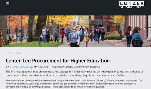 CenterLed Procurement for Higher Education