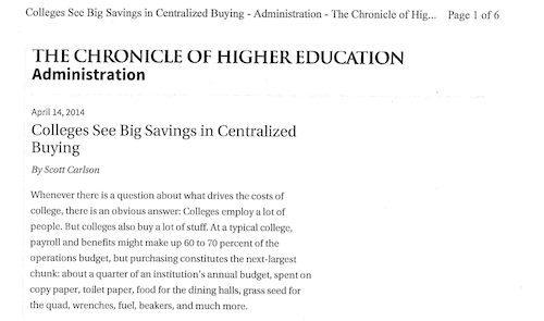 Colleges See Big Savings in Centralized Buying