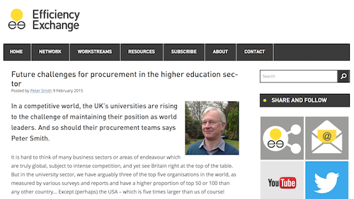 Future Challenges for Procurement in the Higher Education Sector